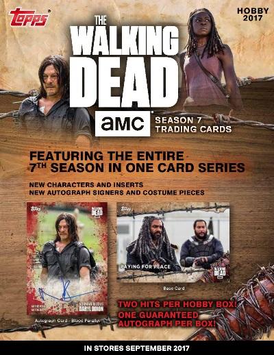 2017 TOPPS THE WALKING DEAD SEASON 7 TRADING CARDS BOX