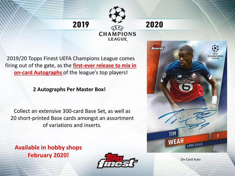 2019/20 TOPPS FINEST UEFA CHAMPIONS LEAGUE BOX