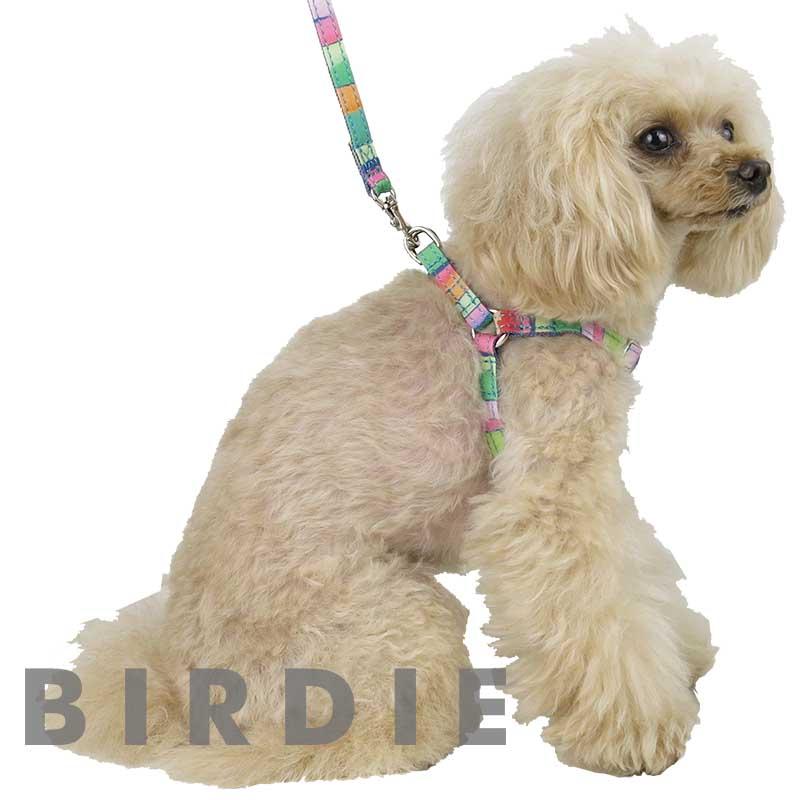 SS マルチボーダーハーネス【BIRDIE(バーディ)超小型犬用ワンタッチバックル足入れ胴輪】