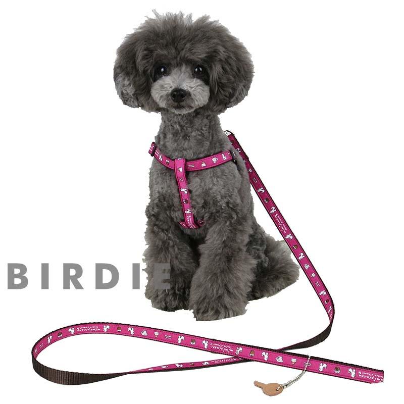 L ティータイムハーネス【BIRDIE mimipinson(ミミパンソン) 中・大型犬用ワンタッチバックル胴輪】