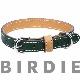 32 フラットレザーバイカラー【BIRDIE小・中型犬革首輪】