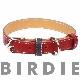40 フラットレザーバイカラー【BIRDIE中型犬革首輪】