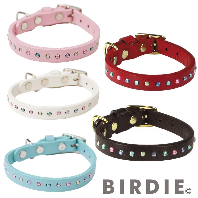 25 パールビーズカラー【BIRDIE小型犬・猫用革首輪】