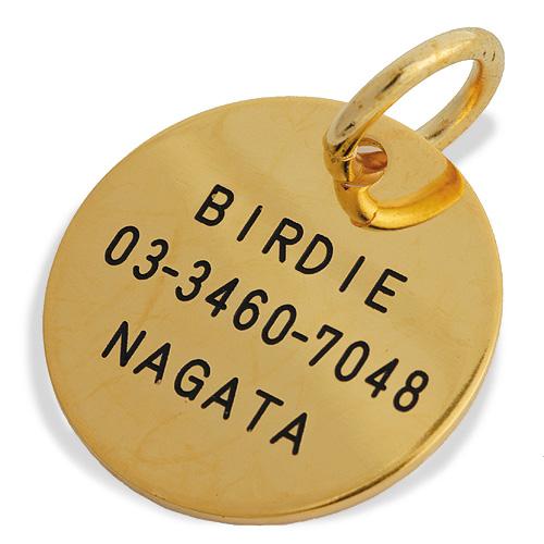 L コインIDプレート 【送料無料】【BIRDIE(バーディ)小型犬・猫〜中・大型犬オーダー迷子札】