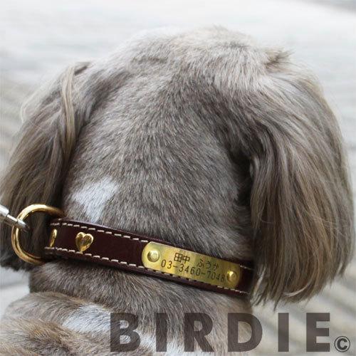 32 ハートメタルIDカラー【BIRDIE中型犬迷子首輪】