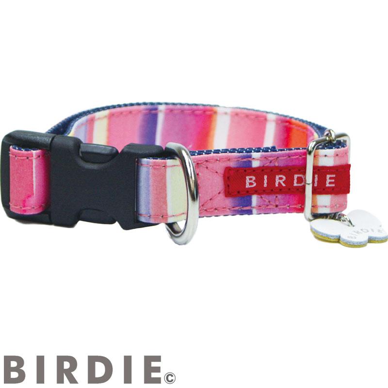 M ワンタッチマルチボーダーカラー【BIRDIE(バーディ)中型犬用ワンタッチバックル首輪】