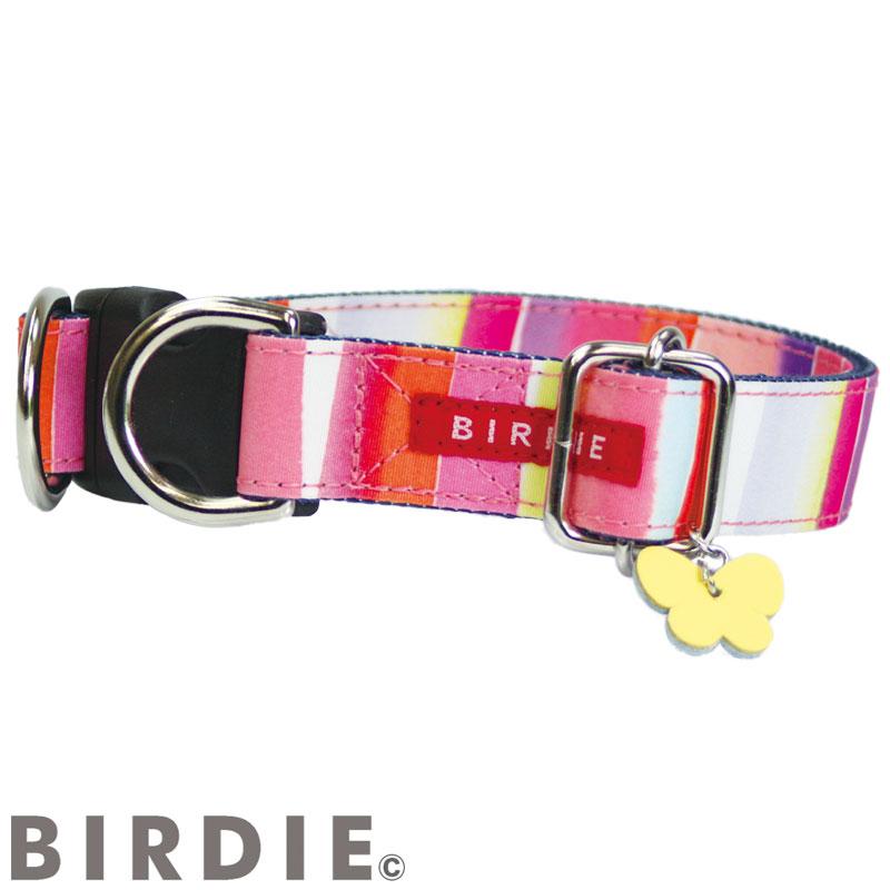 L ワンタッチマルチボーダーカラー【BIRDIE(バーディ)中・大型犬用ワンタッチバックル首輪】