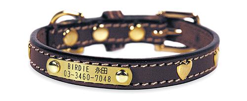 27 ハートメタルIDカラー【BIRDIE小型犬迷子首輪】