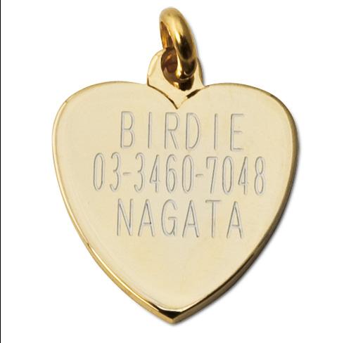 ハートIDプレート【送料無料】【BIRDIE(バーディ)小型犬・猫用オーダー迷子札】