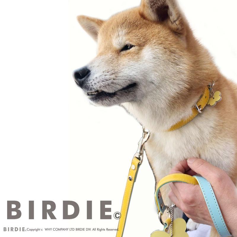 32 カラフルレザーバイカラー【BIRDIE小型犬革首輪】