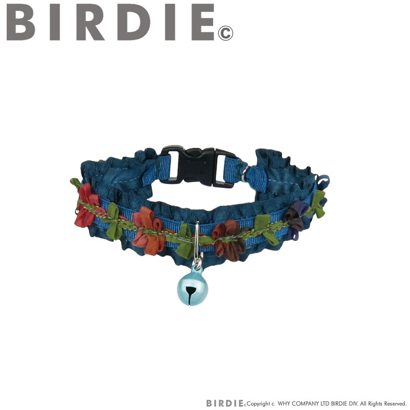 CATフリルリボンフラワーカラー【BIRDIE猫用首輪】