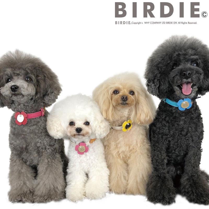 レザーフラワーコインID【送料無料】【BIRDIE(バーディ)小型犬・猫〜中・大型犬オーダー迷子札】
