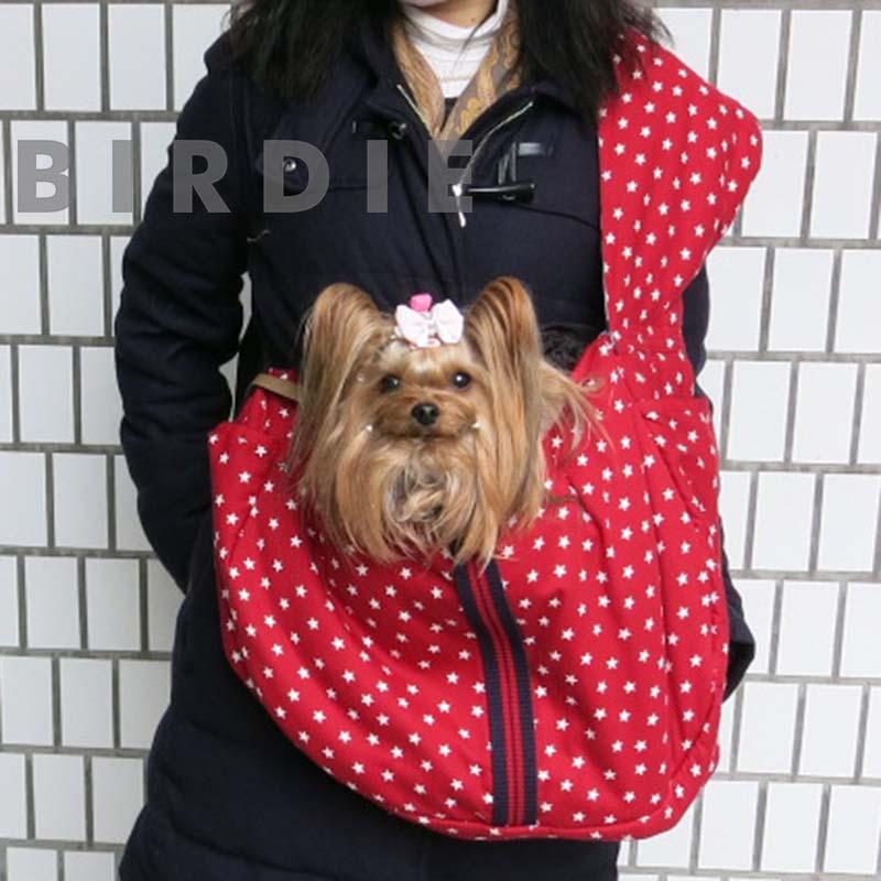 スターデニムカンガルーキャリー【BIRDIE小型犬抱っこキャリー】