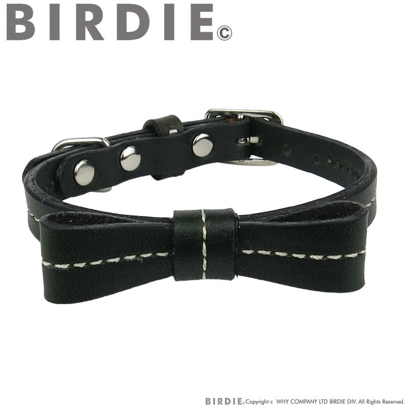 21 リボンステッチカラー【BIRDIE小型犬・猫用革首輪】