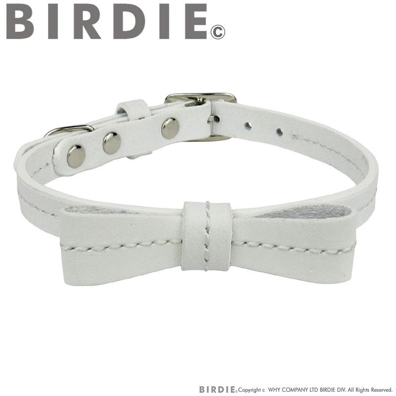 25 リボンステッチカラー【BIRDIE小型犬・猫用革首輪】