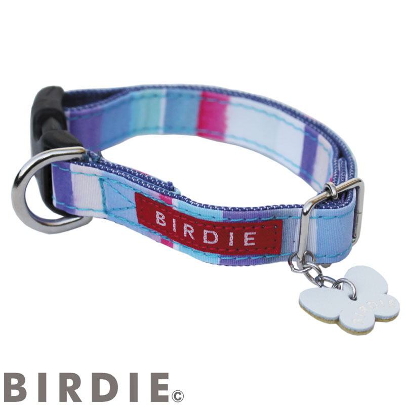 S ワンタッチマルチボーダーカラー【BIRDIE(バーディ)小型犬用ワンタッチバックル首輪】