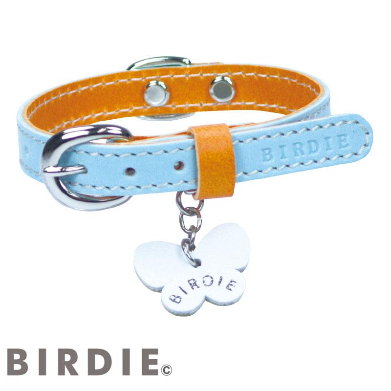 40 IDカラフルレザーバイカラー【BIRDIE中型犬用迷子首輪】