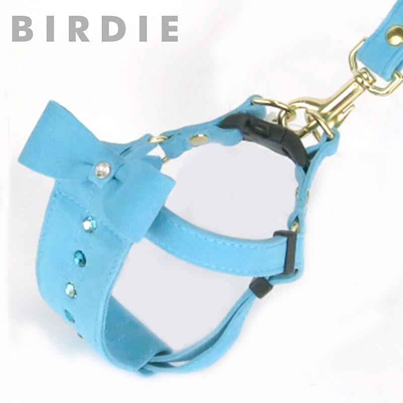 M リンバーハーネス【BIRDIE本革製小型犬胴輪】