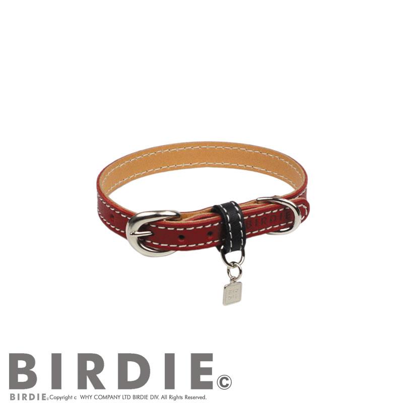 21 フラットレザーバイカラー【BIRDIE小型犬・猫革首輪】