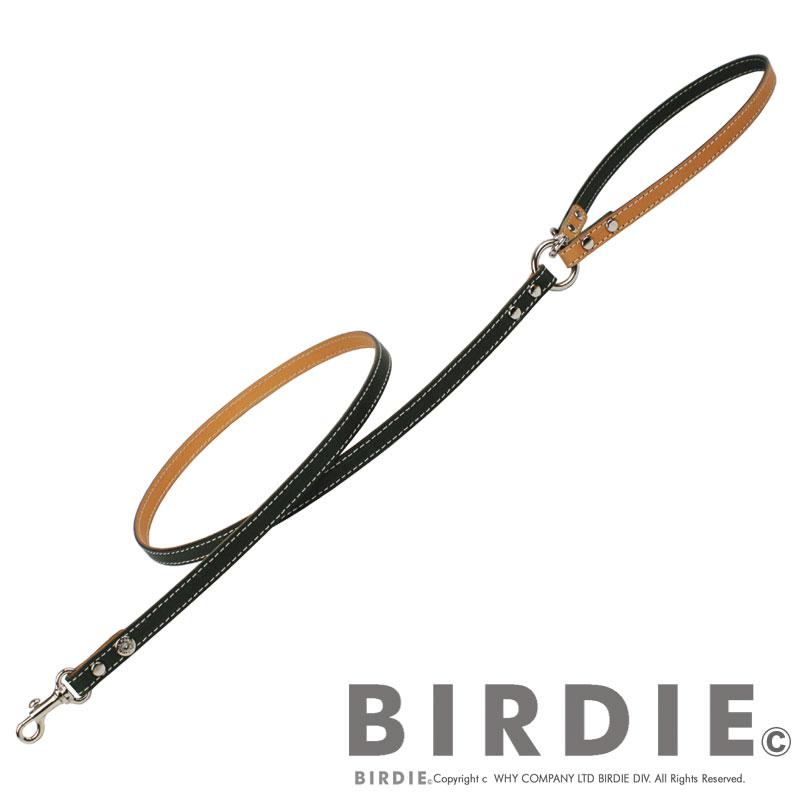 S フラットレザーバイリード【BIRDIE小型犬本革カフェタイプリード】