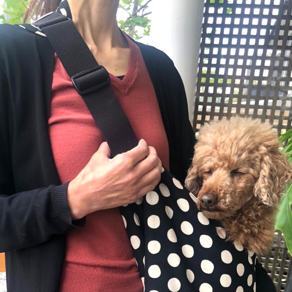 【イージースリング】ドットイージースリングキャリー【BIRDIE小型犬抱っこキャリー】