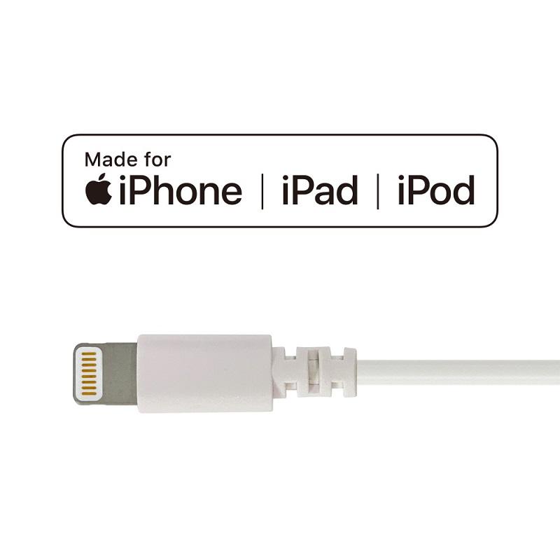 [ポイントUP](在庫限り)MFi認証済み Lightning to USBケーブル 1m iOSデバイス用同期・充電用ケーブル PSA-LTC1