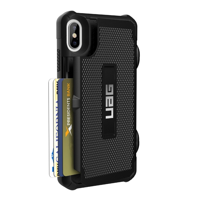 UAG iPhone XS Max (6.5インチ)用 TROOPERケース (カード収納) ブラック 耐衝撃 UAG-IPH18LNシリーズ