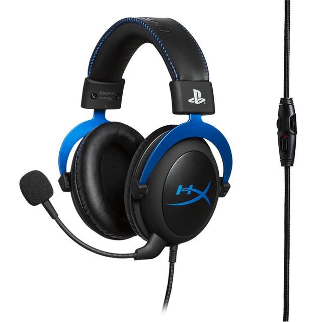HyperX Cloud ゲーミングヘッドセット for PS4 公式ライセンス製品 ブルー PS5対応 HX-HSCLS-BL/AS