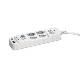Unitap 火災防止+USB給電機能付マルチタップ  PPS-UTAPS2 USB給電×2ポート(合計5V/3.4A給電)、コンセント×2ポート