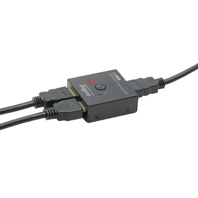 デジ像 4k HDR@60fps対応2ポートHDMI切換器  PHM-SW201S