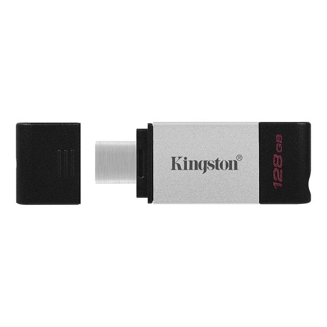 【メーカー取り寄せ】キングストン DataTraveler 80 USBメモリ Type-C USB3.2 Gen1 128GB シルバー DT80/128GB