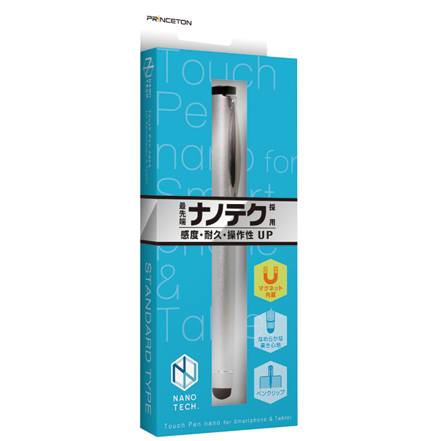 """タッチペン""""nano"""" スタンダードタイプ 全6色 マグネット内蔵・ペンクリップ付き PSA-TP5Eシリーズ"""