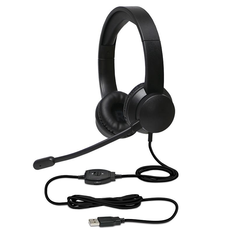 UniSerB USBヘッドセット ブラック UB-HSUSB