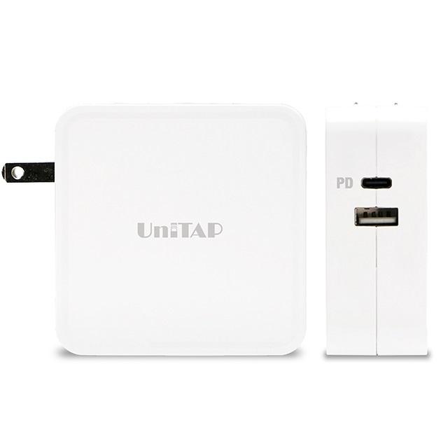 Unitap USB充電器 ホワイト 2ポート PD3.0 パワーデリバリー 合計最大65W PPS-UTAP9AWH