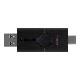 【メーカー取り寄せ】キングストン DataTraveler Duo USBフラッシュドライブ USB 3.2 Gen1 64GB ブラック DTDE/64GB