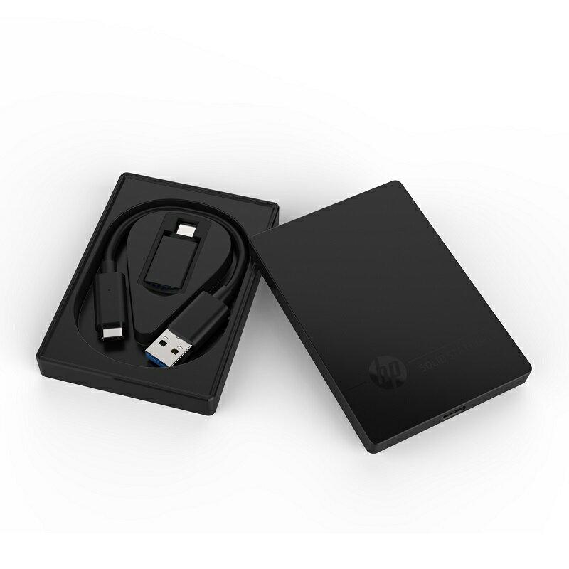HP ポータブルSSD P600シリーズ 500GB USB3.1 Gen2 Type-A(Type-Cアダプタ付属)/ 3D TLC/ 3年保証 3XJ07AA#UUF