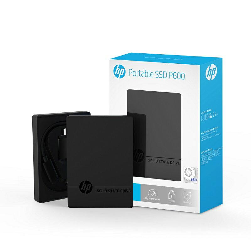 HP ポータブルSSD P600シリーズ 1TB USB3.1 Gen2 Type-A(Type-Cアダプタ付属)/ 3D TLC/ 3年保証 3XJ08AA#UUF