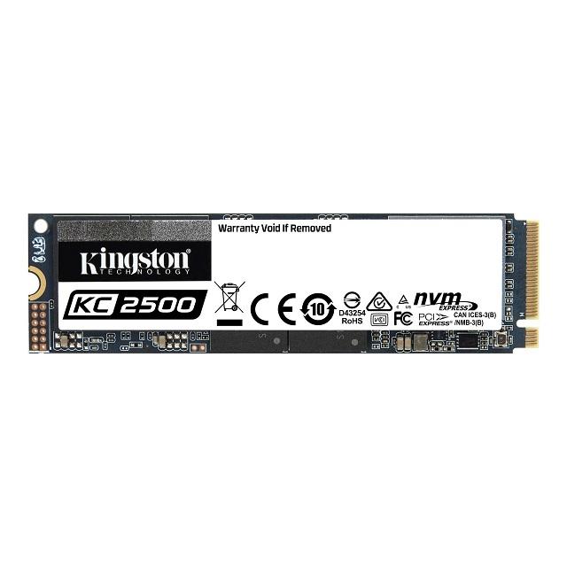 【メーカー取り寄せ】キングストン NVMe PCIe SSD KC2500シリーズ M.2(2280) 500GB 3D TLC NAND SKC2500M8/500G