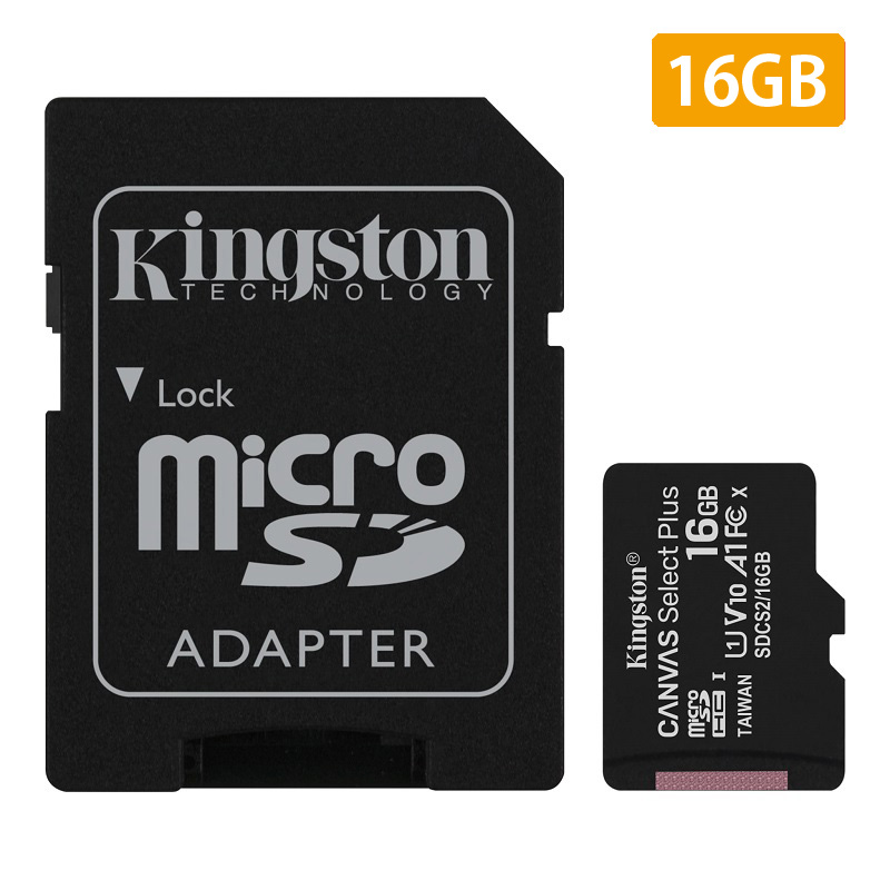 【メーカー取り寄せ】(在庫限り) キングストン microSDHCカード Canvas Select Plus 16GB カードアダプタ付 SDCS2/16GB
