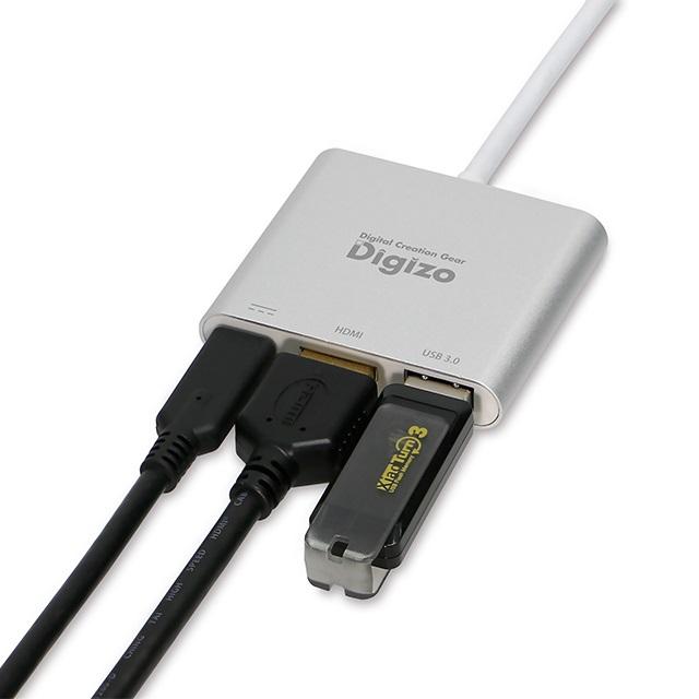 Digizo USB Type-C HDMI変換アダプター ホワイト PD60W 対応 USB3.0 1ポート搭載 Win/Mac対応 PUD-PDC1H