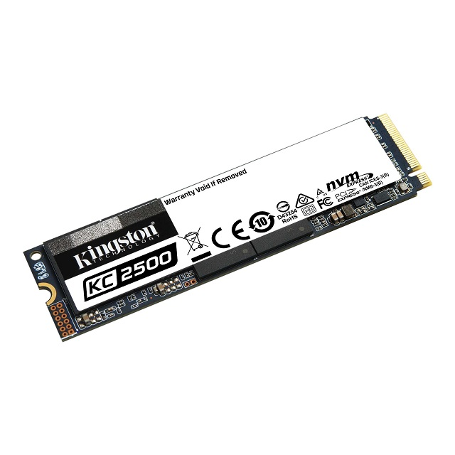 【メーカー取り寄せ】キングストン NVMe PCIe SSD KC2500シリーズ M.2(2280) 2TB 3D TLC NAND SKC2500M8/2000G