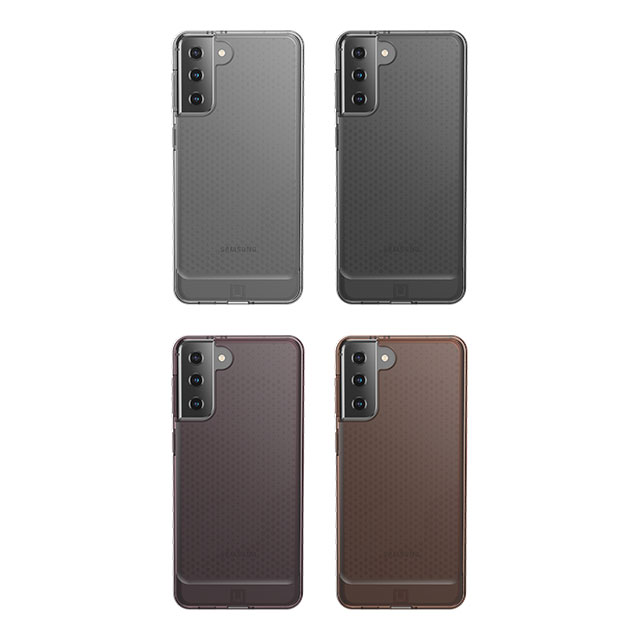 U by UAG Galaxy S21+用 LUCENTケース クリア&ドット 全4色 耐衝撃 UAG-UGLXS21PLSLUシリーズ