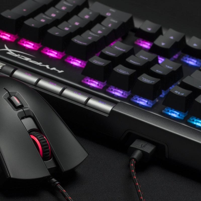 (在庫限り)キングストン HyperX Alloy Elite RGB メカニカルゲーミングキーボード CherryMX軸採用(青/茶/赤)・US配列 HX-KB2**2シリーズ