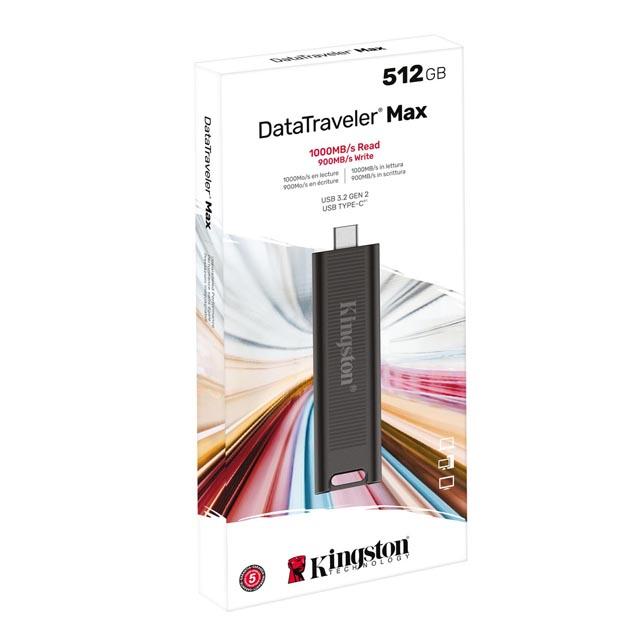 【メーカー取り寄せ】キングストン 外付けSSD 512GB DataTraveler Maxシリーズ  USB 3.2 Gen 2 Type-C DTMAX/512GB