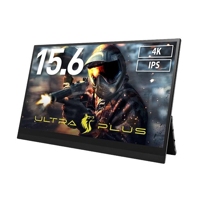 ULTRA PLUS 15.6インチ モバイルディスプレイ ブラック 4K 60Hz タッチ機能付 USB-C入力対応 UP-M156T4K
