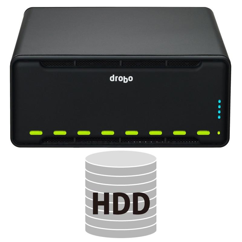 【納期1週間】 Drobo B810i HDDパッケージ iSCSI SAN対応ストレージケース 3.5インチ×8bay Beyond RAID(R) ストレージシステム PDR-B810I+HDD×5台【要同意】