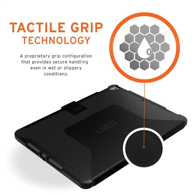 UAG iPad (第8/第7世代)用 SCOUTケース(フォリオ) ブラック 耐衝撃 手帳タイプ UAG-IPD7SF-BK