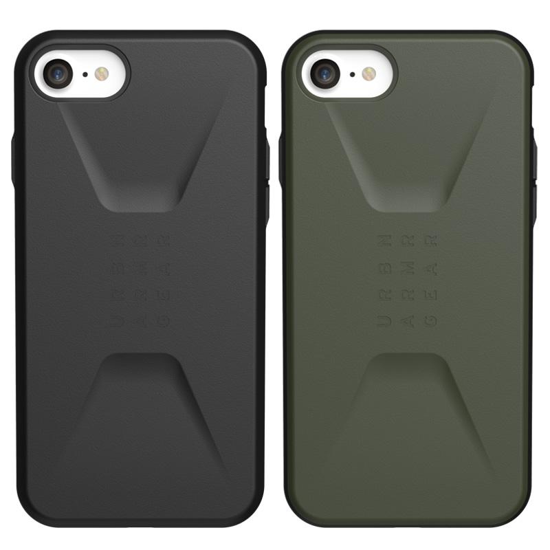 UAG iPhone SE(第2世代)/8/7用 CIVILIANケース ソリッドデザイン 全2色 耐衝撃 UAG-IPH20SSCシリーズ