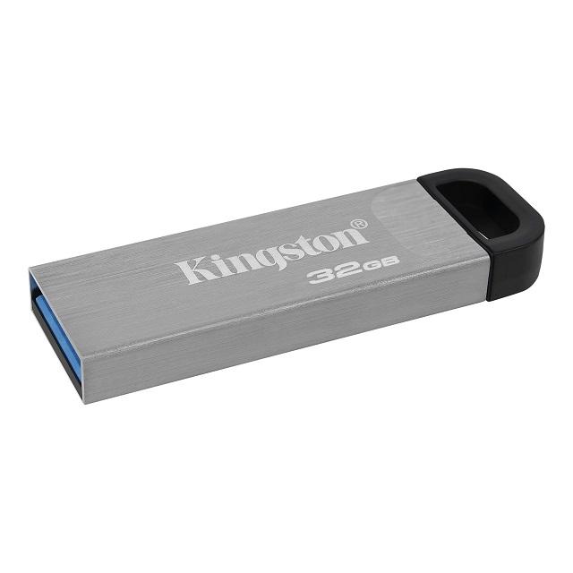 キングストン DataTraveler Kyson USBフラッシュドライブ USB 3.2 Gen1 32GB シルバー DTKN/32GB