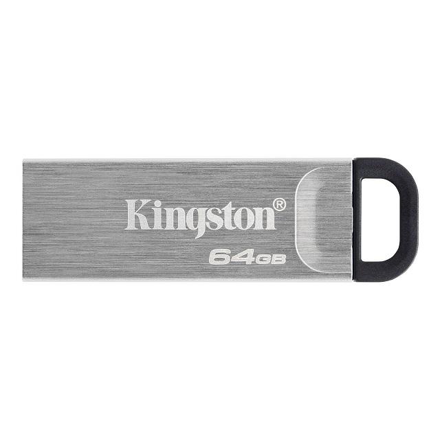 キングストン DataTraveler Kyson USBフラッシュドライブ USB 3.2 Gen1 64GB シルバー DTKN/64GB